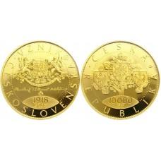 10000 Kč Zlatá mince 2018 Vznik Československa PROOF