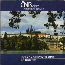 Sada oběžných mincí ČR 1996
