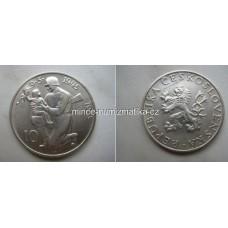 10 Kčs 1955 Stříbrná pamětní mince ČSR Výročí osvobození