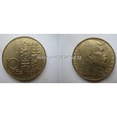10 Kčs 1993 TGM Masaryk - Československá federativní republika