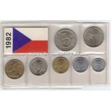 Sada oběžných mincí ČSSR 1982