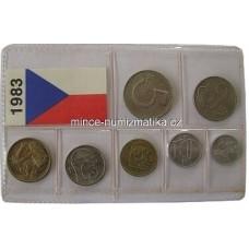 Sada oběžných mincí ČSSR 1983