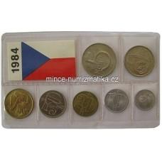 Sada oběžných mincí ČSSR 1984