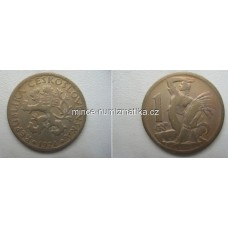 1 Kčs 1924 2/2 Koruna 1Kč