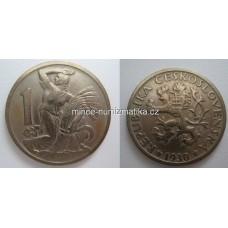 1 Kčs 1930 -R- +1/1 Koruna Československá 1Kčs