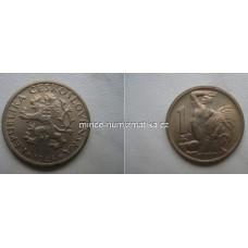 1 Kčs 1946 Československo - mince jedna koruna