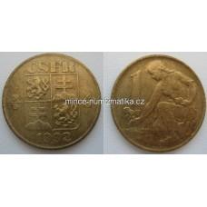 1 Kčs 1992 1/1 Československá Federativní Republika
