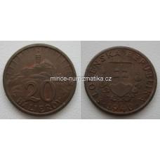 20 halierov 1940 RL