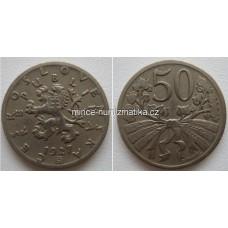50h 1927 -R- - Československo 50 haléř