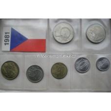 Sada oběžných mincí ČSSR 1981