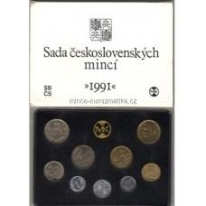 Sada oběžných mincí ČSFR 1991 s žetonem